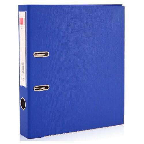 得力5481蓝色PVC快劳夹 A4/3英寸